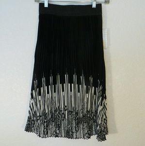 Lularoe Jill Accordion Pleated Midi Skirt XXS NWT